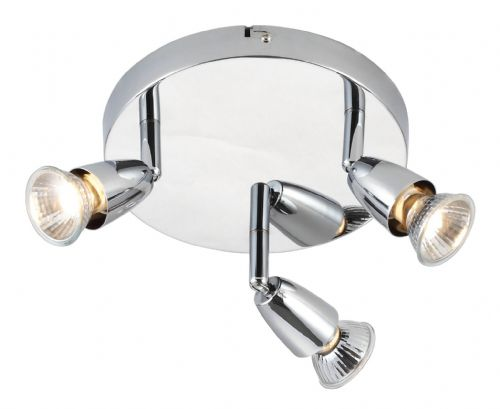 Chrome effect plate Spotlight 43279 by Endon